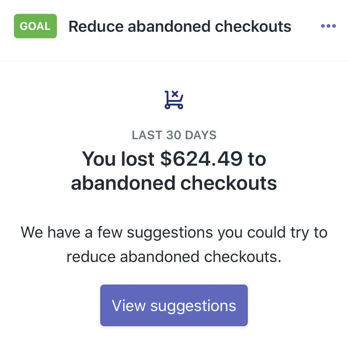 abandoned checkouts shopify